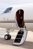 De deur van het vliegtuig Stock Fotografie