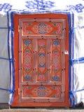 De deur van Jurta Stock Afbeeldingen