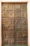 De deur van de Kerk van het detail Kotor van Heilige Mary royalty-vrije stock afbeeldingen