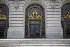 De deur van San Francisco City Hall Stock Foto