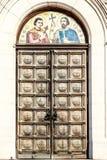 De deur van St Alexander Nevsky Cathedral, Sofia Stock Afbeeldingen