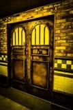 De deur van de vliegonderneming in Lotte World Adventure stock afbeeldingen