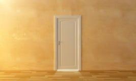 De deur voor het licht Stock Afbeelding