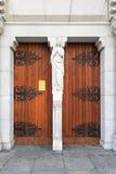 De deuren van de basiliek Stock Foto