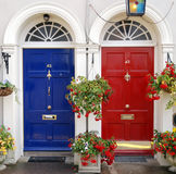 De deuren van de ingang in Ierland Stock Fotografie