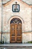 De deuren van de kerk. Stock Foto's