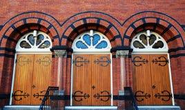 De deuren van de kerk Stock Afbeelding