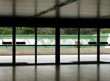 De deuren van de luchthaven stock foto's