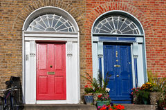 De deuren van Dublin Stock Afbeelding