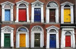 De deuren van Dublin Stock Fotografie