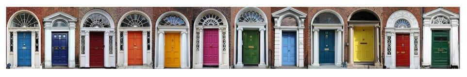 De deuren van Dublin Royalty-vrije Stock Afbeeldingen