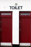 De deuren van het toilet Stock Foto's