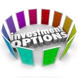 De Deuren van investeringsopties Vele Wegen die Beste Besparingen kiezen plannen Royalty-vrije Stock Afbeeldingen