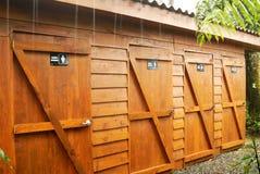 De Deuren van toiletten Stock Foto's
