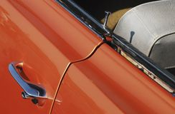 De deurhandvat van de auto Stock Afbeeldingen