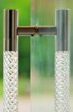 De deurhandvat van het glas Stock Afbeeldingen