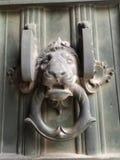 De deurkloppers van de leeuw royalty-vrije stock afbeelding