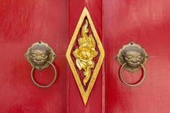 De deurknop van de leeuw Royalty-vrije Stock Fotografie