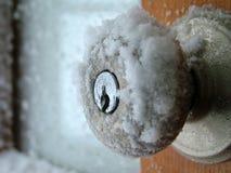 De deurknop van de winter Royalty-vrije Stock Fotografie