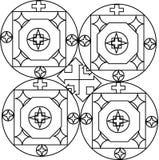 De deurontwerp van het stiliststaal voor het metaalwerk Royalty-vrije Stock Afbeeldingen