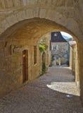 De Deuropening van Castelnaud stock foto