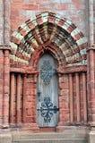 De deuropening van de kathedraal Stock Foto