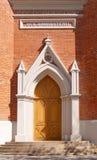 De deuropening van de kerk Stock Fotografie