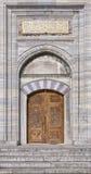 De deuropening van de Moskee van Suleiman Stock Fotografie