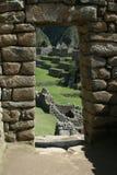 De deuropening van Picchu van Machu stock foto