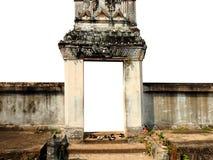 De deurtempel Boedha isoleerde royalty-vrije stock foto's
