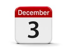 3 de dezembro ilustração stock