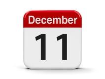 11 de dezembro Imagens de Stock Royalty Free