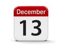 13 de dezembro Fotografia de Stock Royalty Free