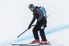 28 de dezembro de 2017 - Bormio Itália - Audi FIS Ski World Cup Imagens de Stock Royalty Free