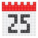 25 de dezembro Calendar o ícone ilustração stock