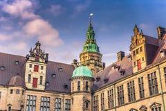 3 de dezembro de 2016: Canto do pátio interno de Kronborg cas Imagens de Stock Royalty Free