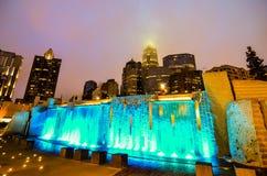 27 de dezembro de 2013, charlotte, nc - ideia da skyline de charlotte em Imagens de Stock Royalty Free