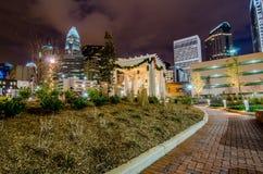 27 de dezembro de 2014, charlotte, nc, skyline dos EUA - charlotte perto de r Fotografia de Stock Royalty Free