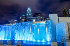 27 de dezembro de 2014, charlotte, nc, skyline dos EUA - charlotte perto de r Imagem de Stock