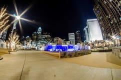 27 de dezembro de 2014, charlotte, nc, skyline dos EUA - charlotte perto de r Imagens de Stock Royalty Free