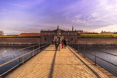 3 de dezembro de 2016: Entrada ao castelo de Kronborg em Helsingor, Imagem de Stock