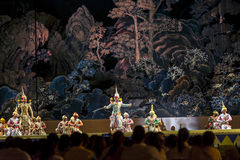 12 de dezembro de 2015, Khon é drama da dança da mascarada clássica tailandesa, Fotografia de Stock Royalty Free