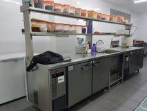 30 de dezembro de 2016, Kuala Lumpur Hotel& x27; equipamento da cozinha de s Fotos de Stock