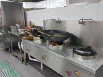 30 de dezembro de 2016, Kuala Lumpur Hotel& x27; equipamento da cozinha de s Fotos de Stock Royalty Free