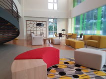 16 de dezembro de 2016 O design de interiores dos íbis denomina o hotel Kuala Lumpur Sr Damansara Imagem de Stock Royalty Free