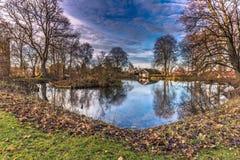 4 de dezembro de 2016: Os jardins de Roskilde, Dinamarca Fotografia de Stock Royalty Free