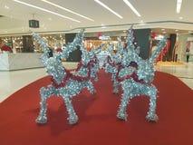 15 de dezembro de 2016 Subang Jaya Deco do Natal no complexo de compra dos homens da Dinamarca Imagens de Stock