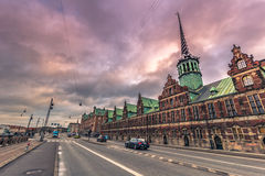 5 de dezembro de 2016: Troca de stock antigo de Copenhaga, Dinamarca Foto de Stock