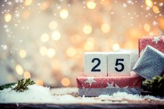 25 de dezembro, dia de Natal Foto de Stock
