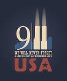 9/11 de dia do patriota, o 11 de setembro Fotografia de Stock